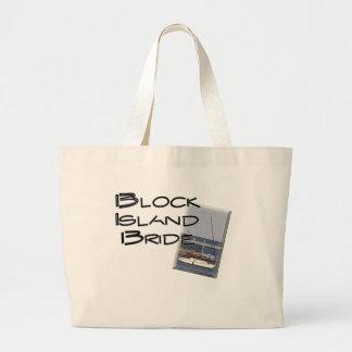 Block Island Weddings, Bride Large Tote Bag