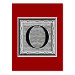 """Block Letter """"O"""" Woodcut Woodblock Inital Post Cards"""