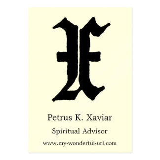 "Block Letter ""X"" Woodcut Woodblock Inital Large Business Cards (Pack Of 100)"