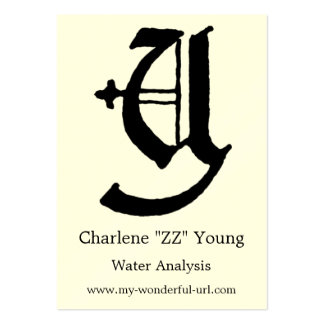 "Block Letter ""Y"" Woodcut Woodblock Inital Large Business Cards (Pack Of 100)"