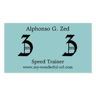 """Block Letter """"Z"""" Woodcut Woodblock Inital Business Card"""