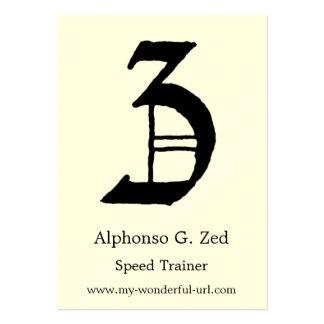"Block Letter ""Z"" Woodcut Woodblock Inital Large Business Card"