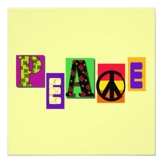 Block Letters Peace T-shirts and Gifts Invites