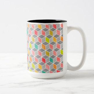 Block Party Bright Two-Tone Coffee Mug