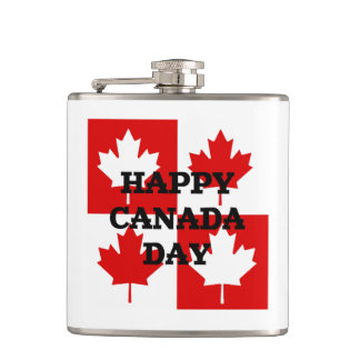 Block Party Canada Day Flask
