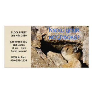 Block Party Humorous Invite Photo Card Template