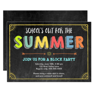 Block Party Invitations Announcements Zazzle
