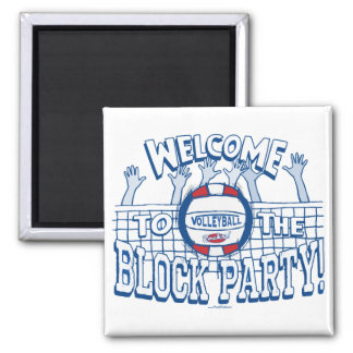 Block Party Volleyball by Mudge Studios Magnet
