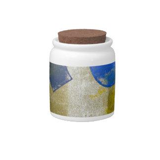 Block Print 8 Decorative Cork Lid Jar Candy Dish