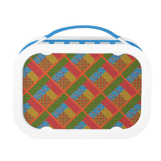 Block Quilt Pattern 1 Lunch Boxes