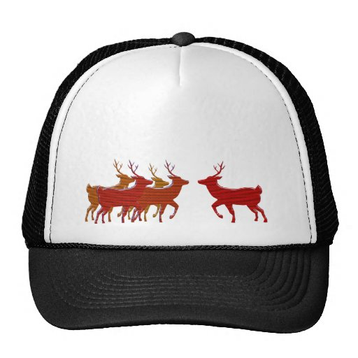 Block Reindeer Fall Shades Mesh Hats