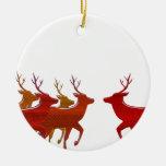 Block Reindeer Fall Shades Ornaments