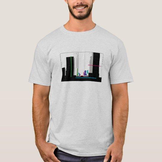 block skylineBasic T-Shirt Template - Customized