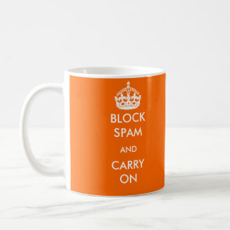 Block Spam and Carry On Mug