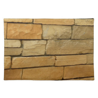 block wall overlay orangy color placemat