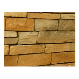 block wall overlay orangy color postcard