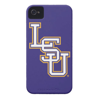 Block White and Gold LSU Logo Case-Mate iPhone 4 Cases