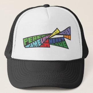 Block word angles 1 trucker hat