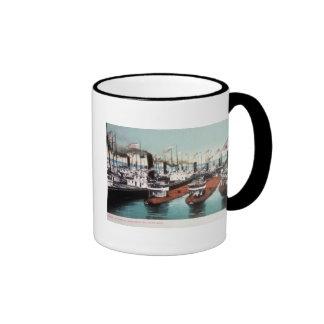 Blockade at Sault Ste Marie - Vintage Ringer Mug