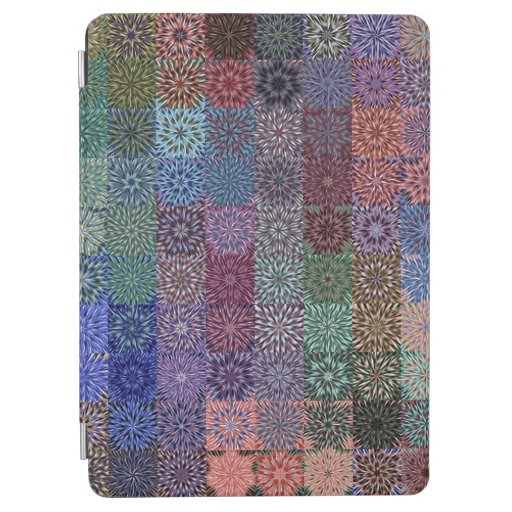 Blocked Color Bursts iPad Air Cover