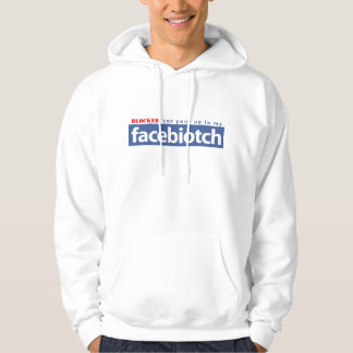BLOCKED facebiotch wht hoodie men/wmn