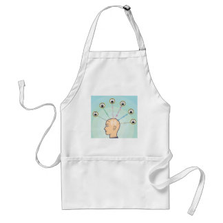 Blocked Locked Secured Brainwaves Adult Apron