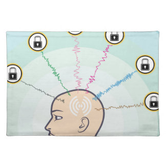 Blocked Locked Secured Brainwaves Cloth Placemat