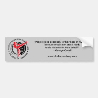 Blocker Academy of Martial Arts Bumper Sticker