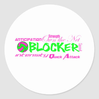 Blocker Traits Classic Round Sticker
