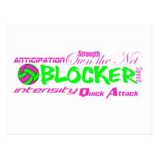 Blocker Traits Postcard