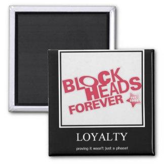 Blockhead 2 Inch Square Magnet