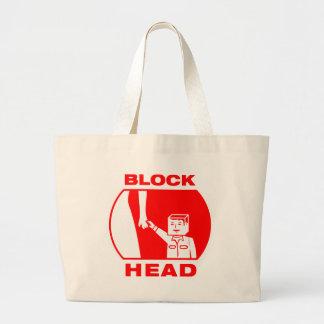 Blockhead Tote Bag
