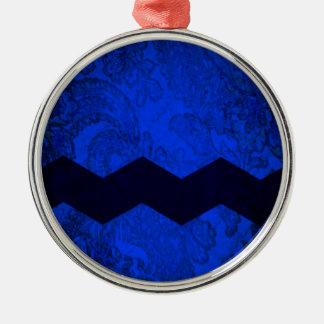 Blockhead Metal Ornament