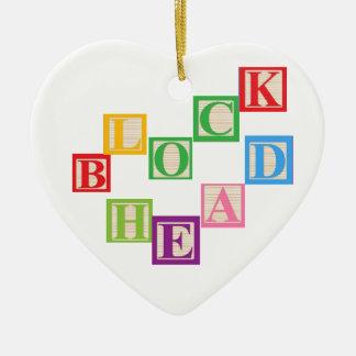 Blockhead Ornament