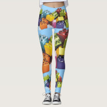 Blockhead World Leggings