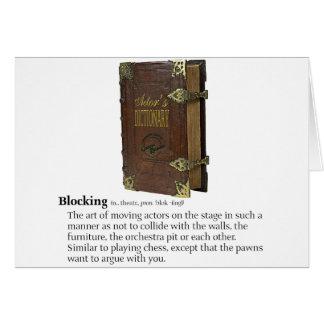 Blocking Greeting Card