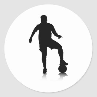 Blocking Kicker Classic Round Sticker