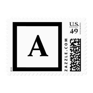 Blockletter A Postage Stamp