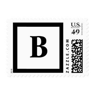 Blockletter B Postage Stamp