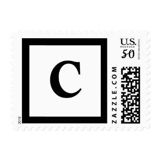 Blockletter C Postage