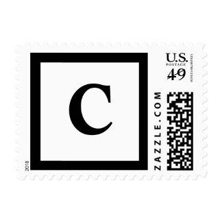 Blockletter C Postage Stamp