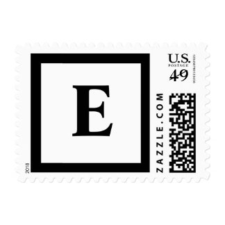 Blockletter Monogram - E Stamp