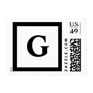 Blockletter Monogram - G Postage