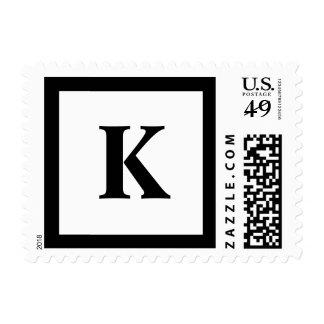 Blockletter Monogram - K Stamp