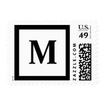 Blockletter Monogram - M Postage