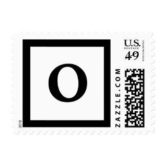 Blockletter Monogram - O Postage Stamp
