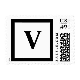 Blockletter Monogram - V Postage