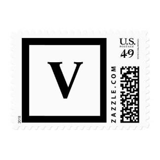 Blockletter Monogram - V Stamp