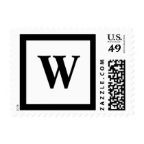 Blockletter Monogram - W Postage