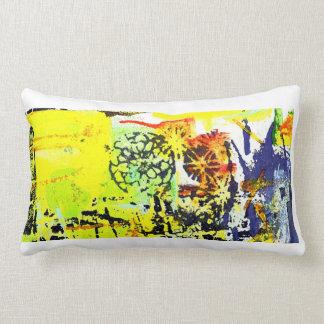 Blockprint blotter throw pillow